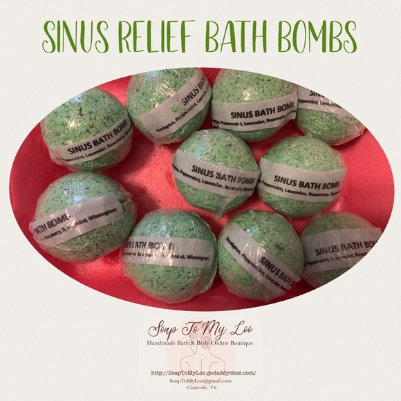 Sinus Relief Bath Bombs - Soap To My Loo (2 Bombs)